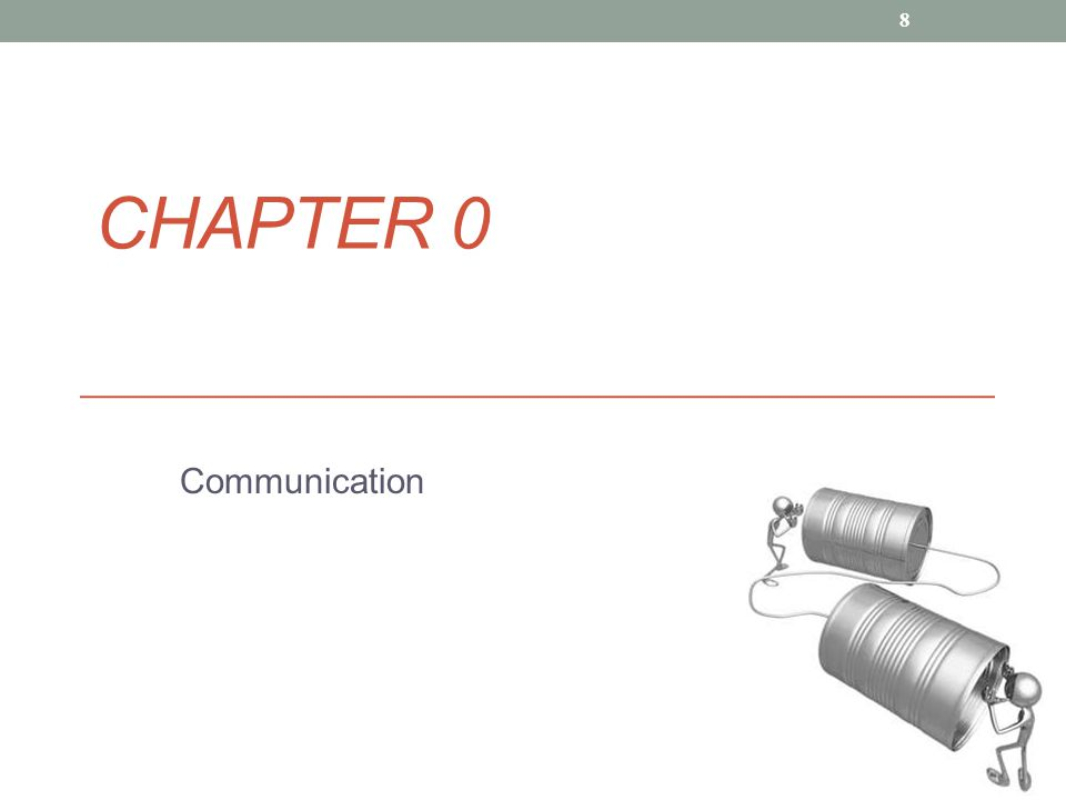 Chapter 0 Communication