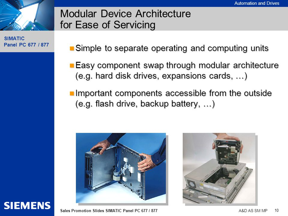 Modular Device Architecture for Ease of Servicing