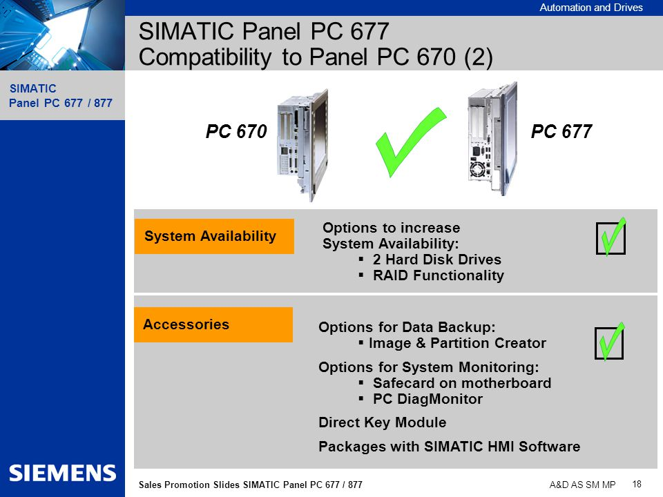SIMATIC Panel PC 677 Compatibility to Panel PC 670 (2)