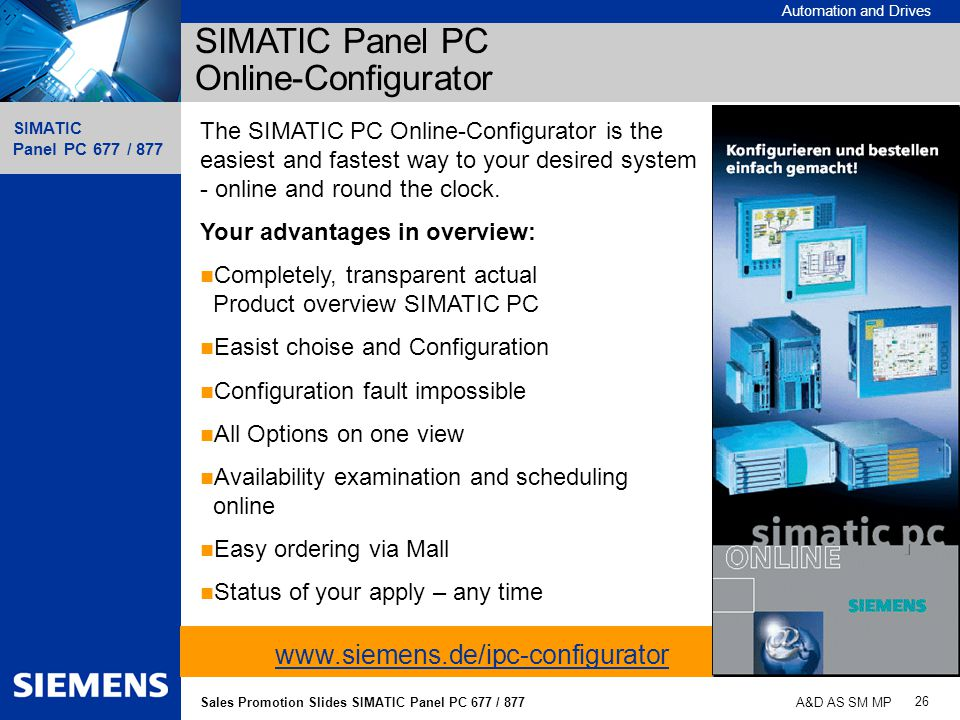 SIMATIC Panel PC Online-Configurator