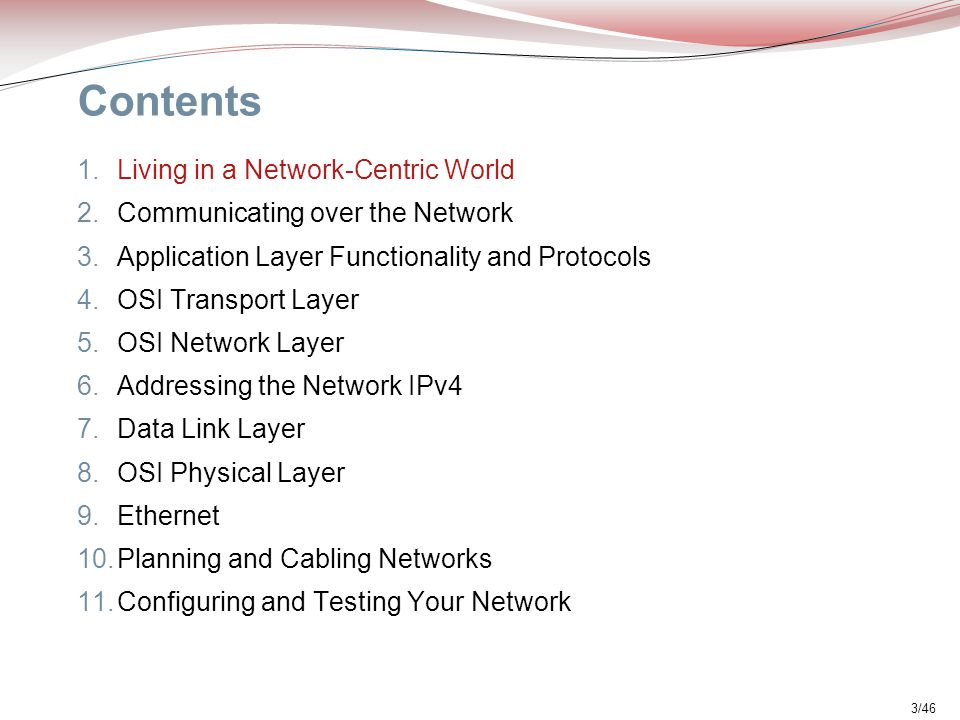 Contents Living in a Network-Centric World