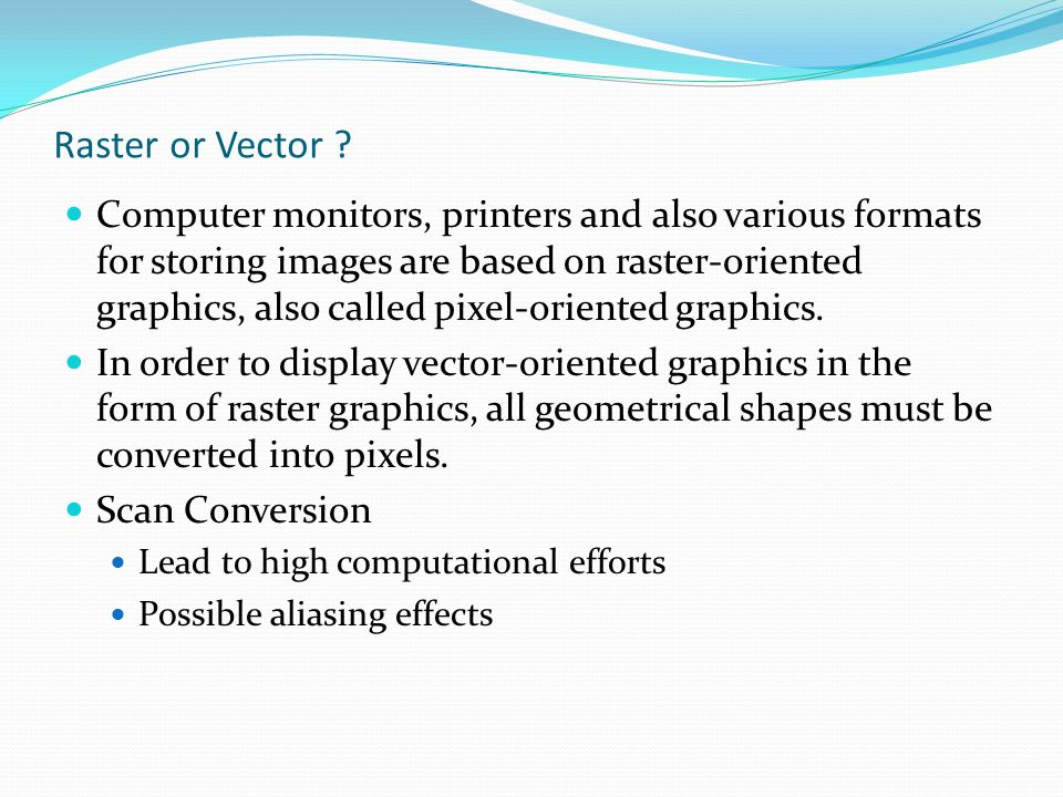 Raster or Vector
