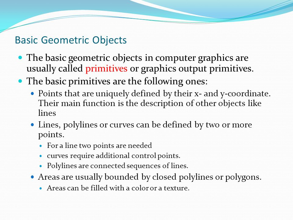 Basic Geometric Objects