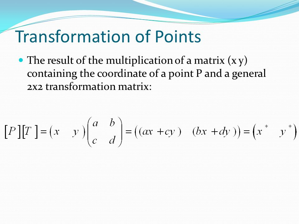 Transformation of Points