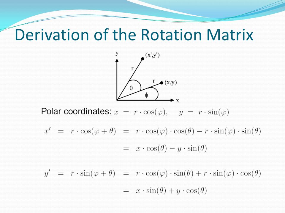 Derivation of the Rotation Matrix