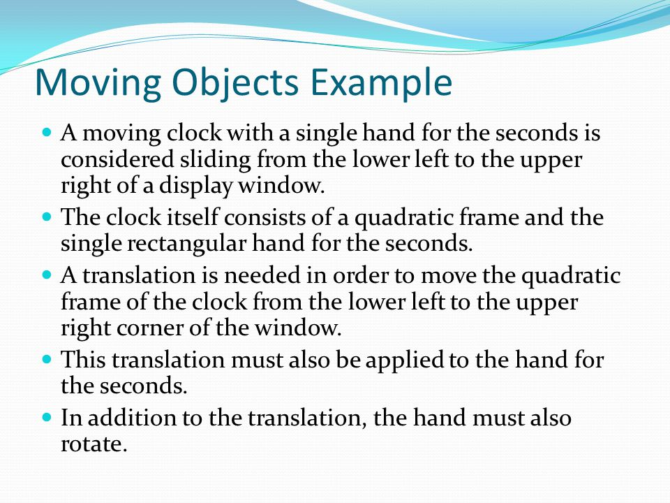 Moving Objects Example