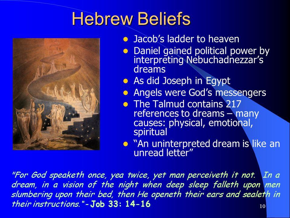 Hebrew Beliefs Jacob's ladder to heaven