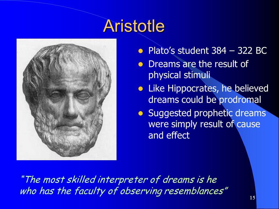 Aristotle Plato's student 384 – 322 BC