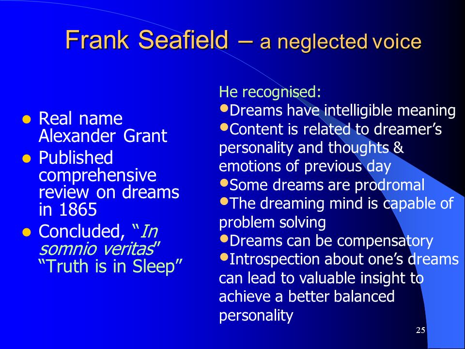 Frank Seafield – a neglected voice