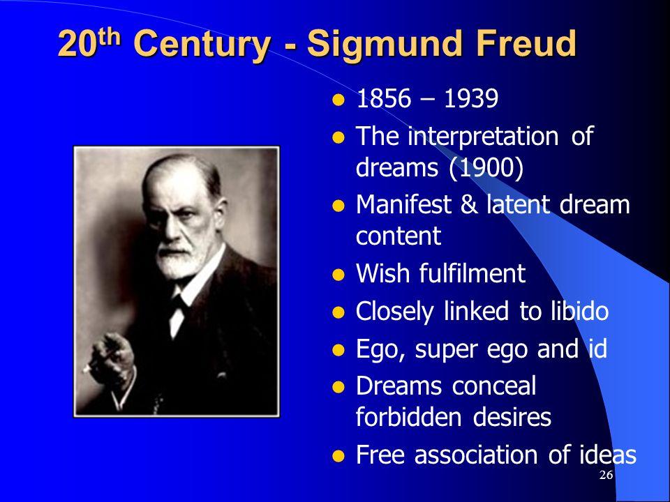 20th Century - Sigmund Freud