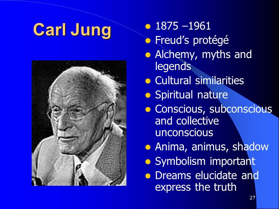 Carl Jung 1875 –1961 Freud's protégé Alchemy, myths and legends