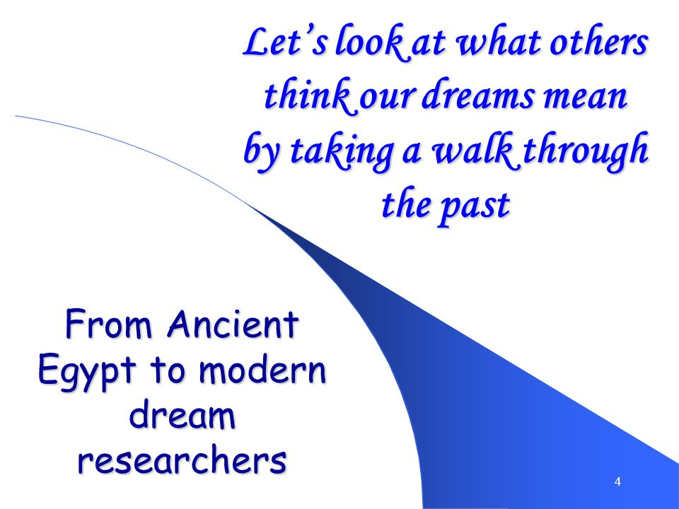 From Ancient Egypt to modern dream researchers