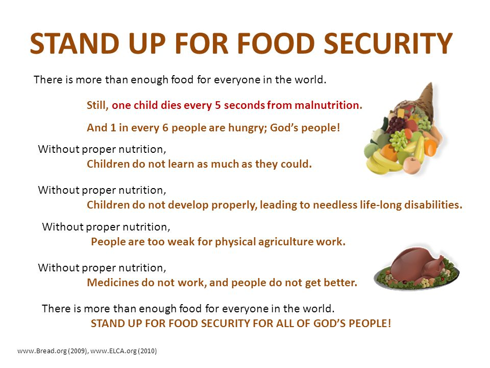 STAND UP FOR FOOD SECURITY
