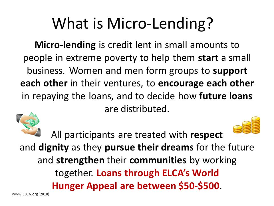 What is Micro-Lending
