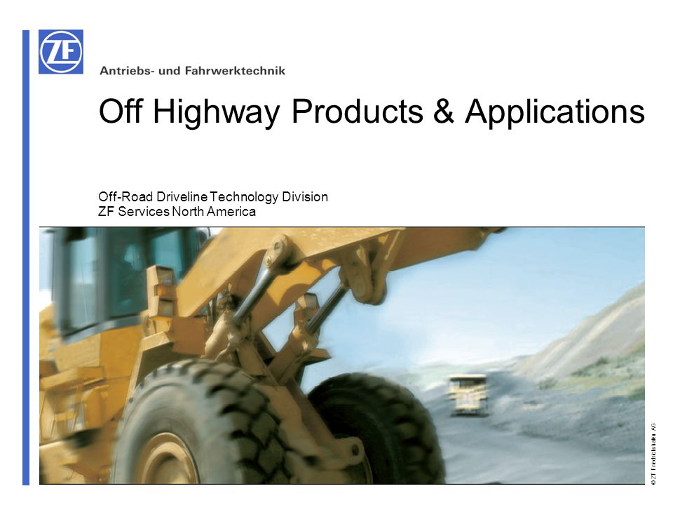 Off Highway Products & Applications