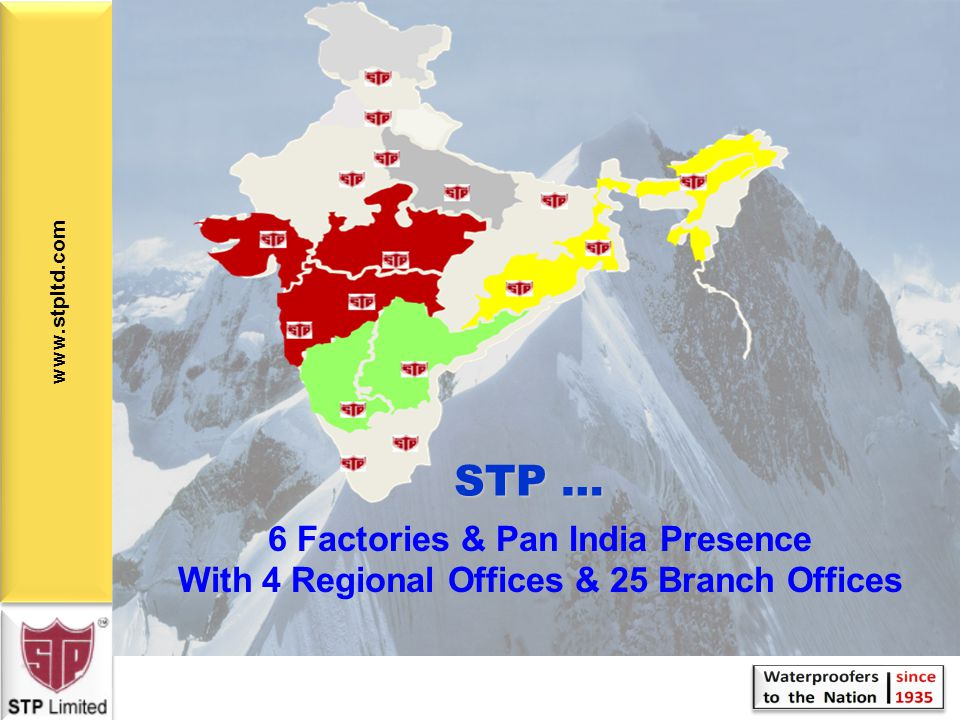 STP … 6 Factories & Pan India Presence