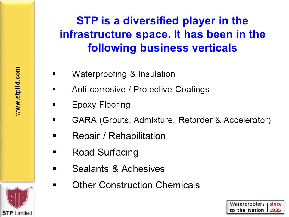 STP is a diversified player in the infrastructure space