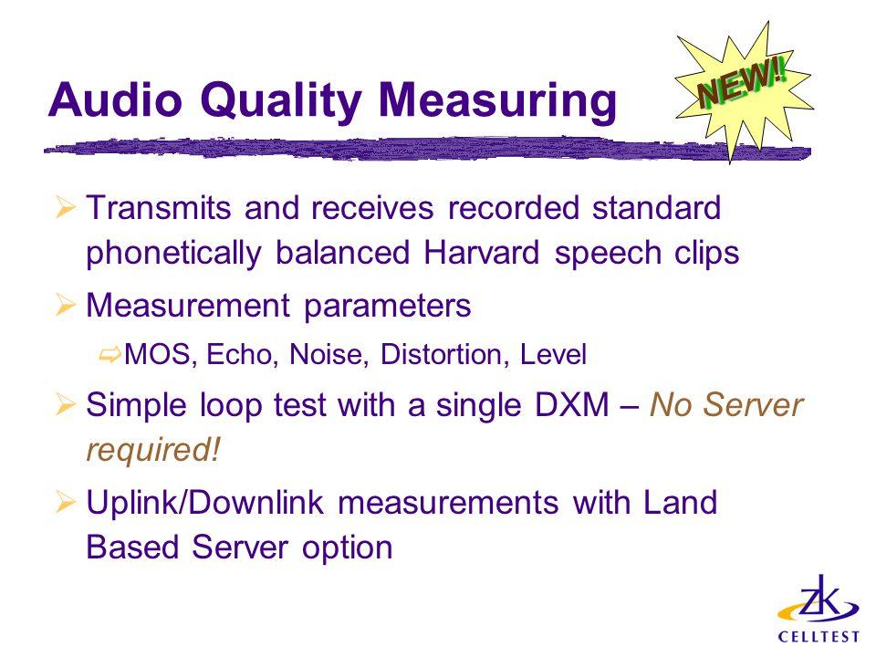 Audio Quality Measuring