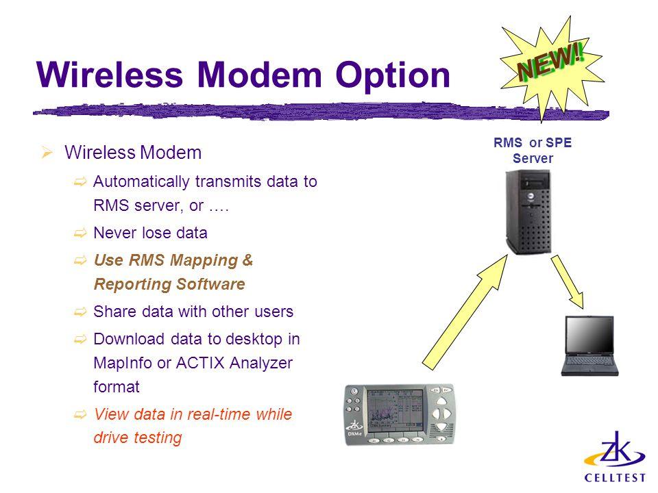 Wireless Modem Option NEW! Wireless Modem