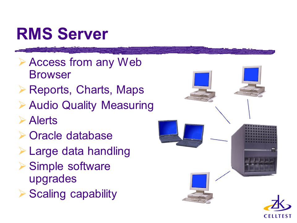 RMS Server Access from any Web Browser Reports, Charts, Maps