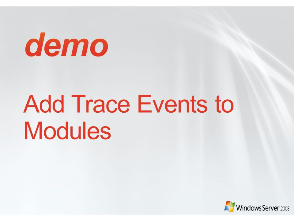 Add Trace Events to Modules
