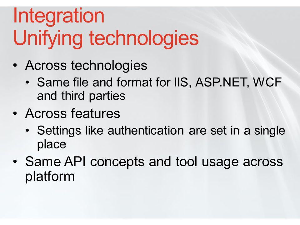 Integration Unifying technologies