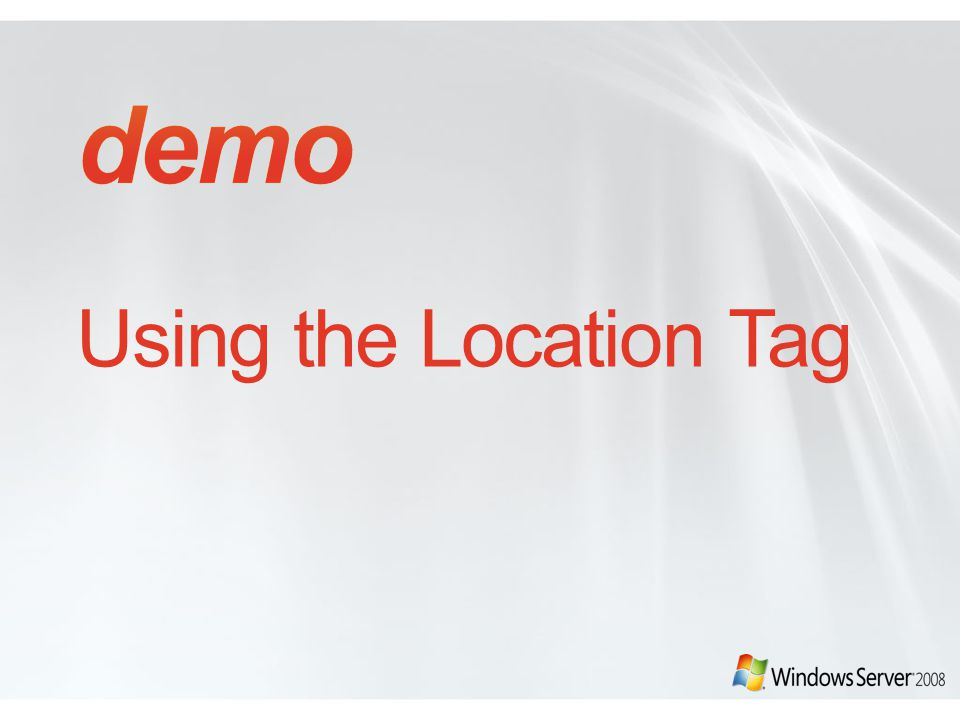 demo Using the Location Tag