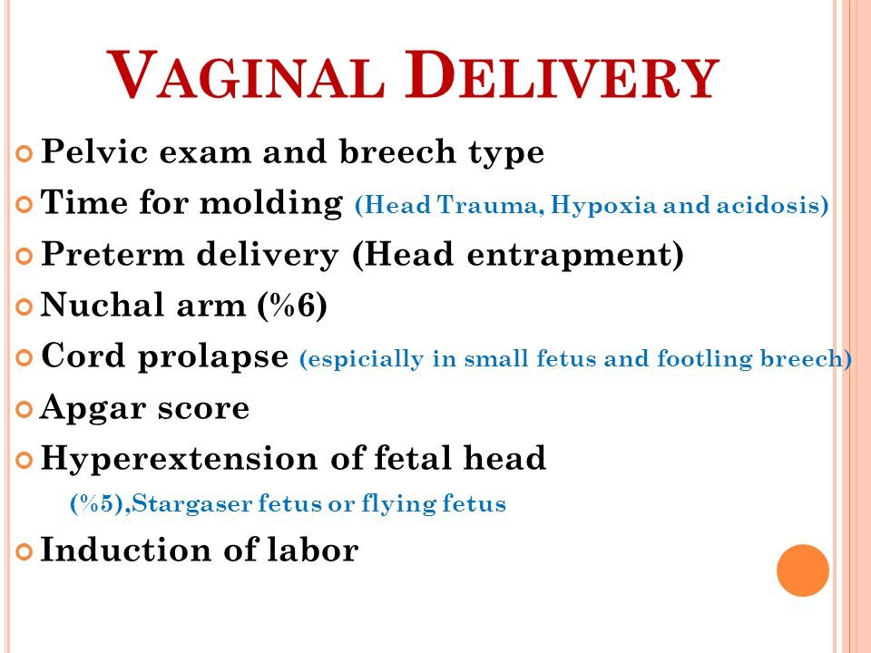 Vaginal Delivery Pelvic exam and breech type