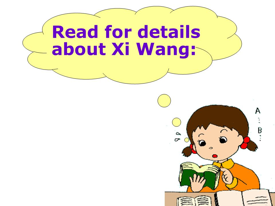 Read for details about Xi Wang: