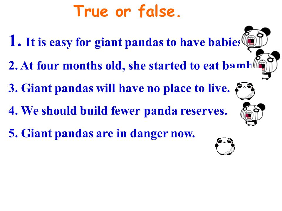1. It is easy for giant pandas to have babies.