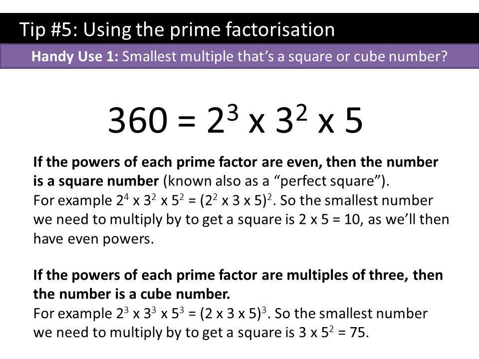 Handy Use 1: Smallest multiple that's a square or cube number