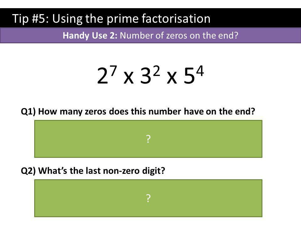 Handy Use 2: Number of zeros on the end