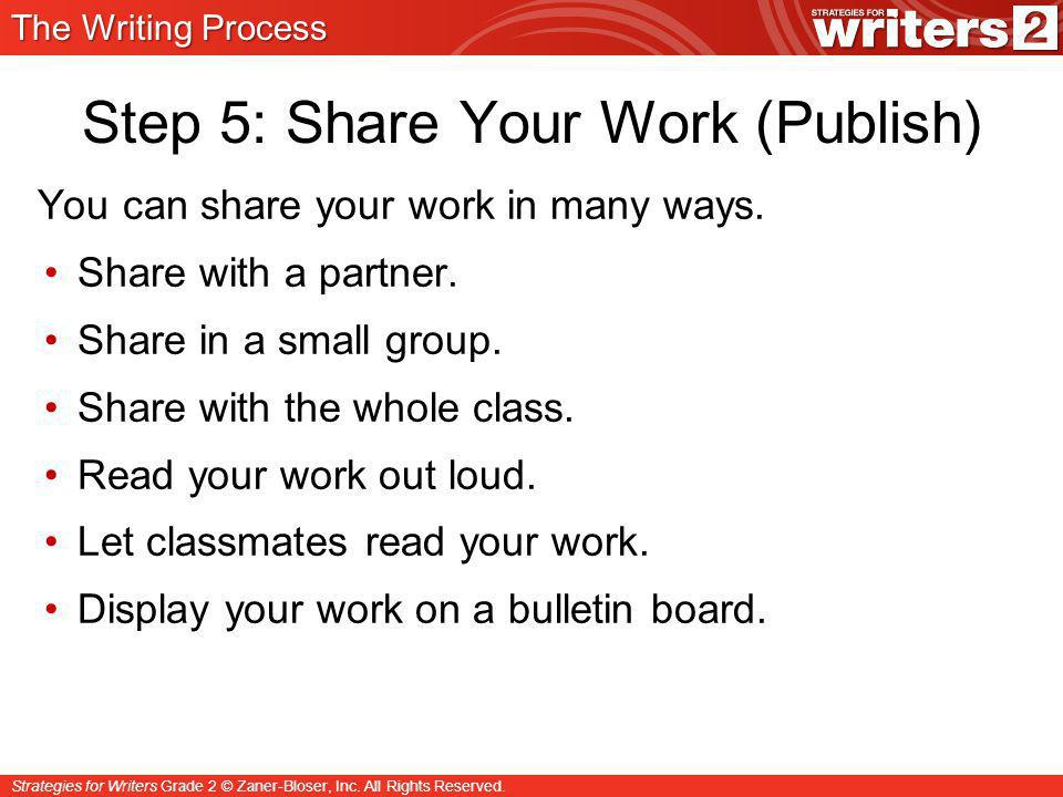 Step 5: Share Your Work (Publish)