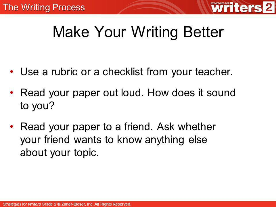 Make Your Writing Better