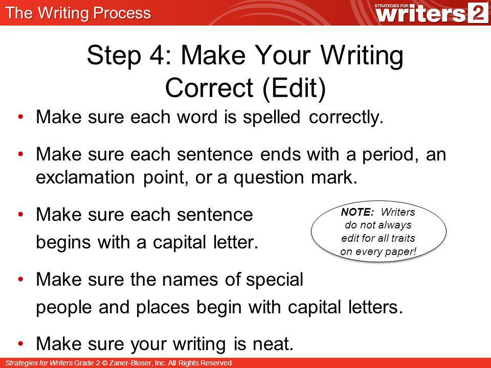 Step 4: Make Your Writing Correct (Edit)