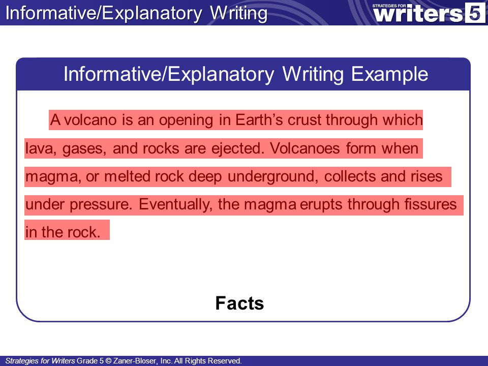 Informative/Explanatory Writing Example