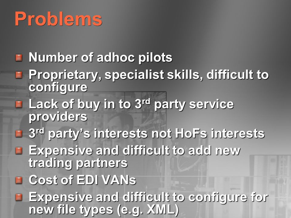 Problems Number of adhoc pilots