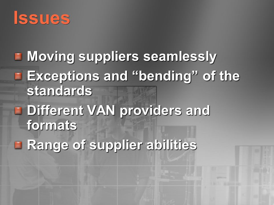 Issues Moving suppliers seamlessly