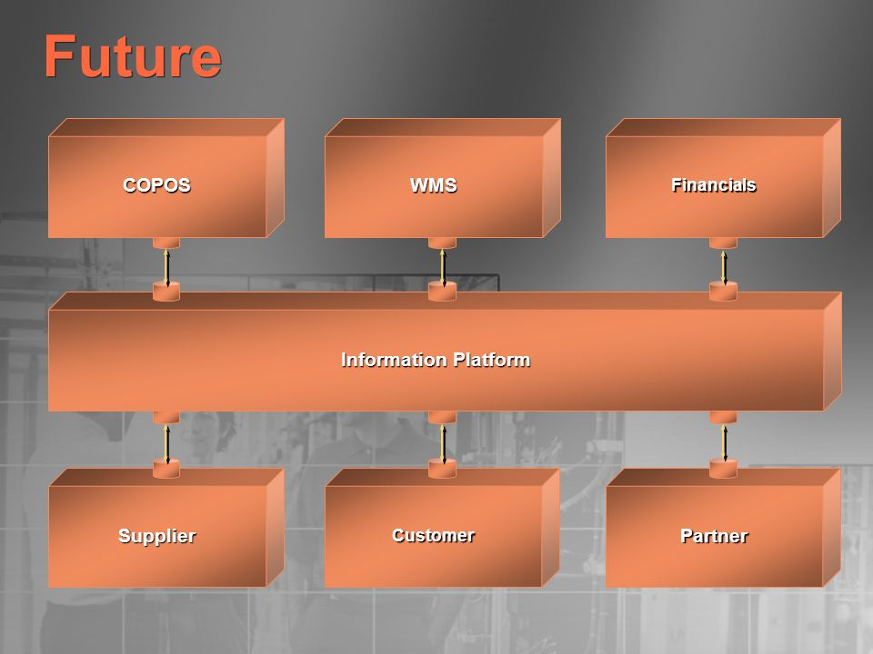 Future Supplier Partner COPOS WMS Information Platform Financials