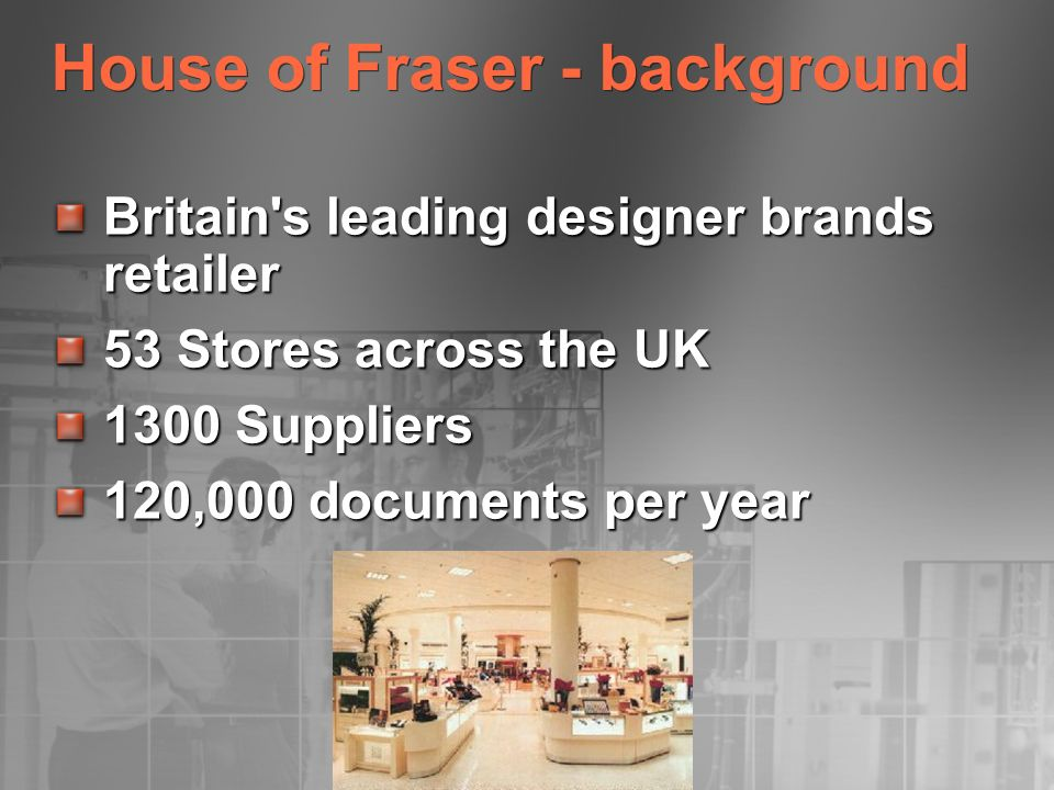 House of Fraser - background