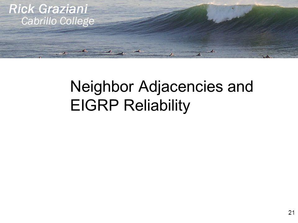 Neighbor Adjacencies and EIGRP Reliability