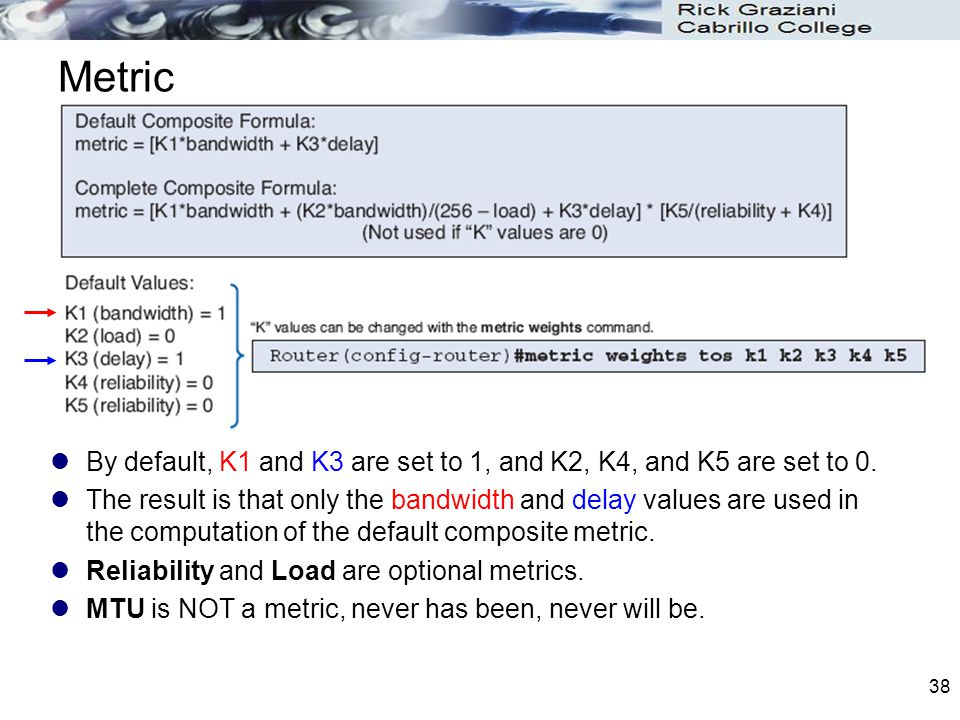 Metric By default, K1 and K3 are set to 1, and K2, K4, and K5 are set to 0.