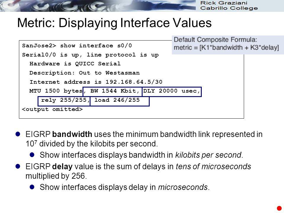 Metric: Displaying Interface Values