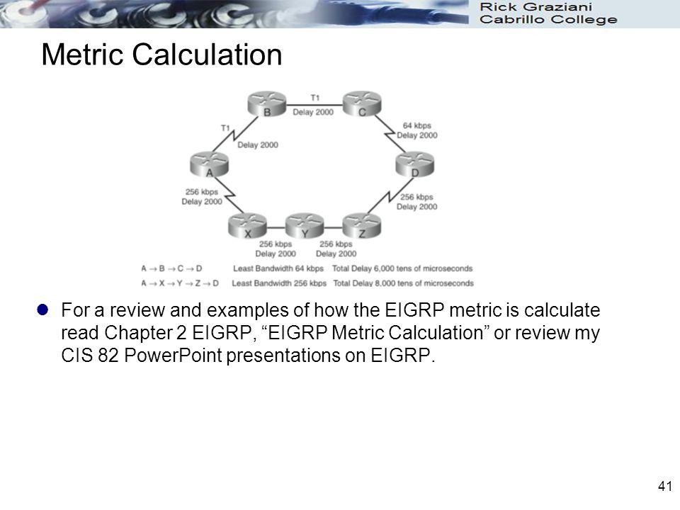 Metric Calculation