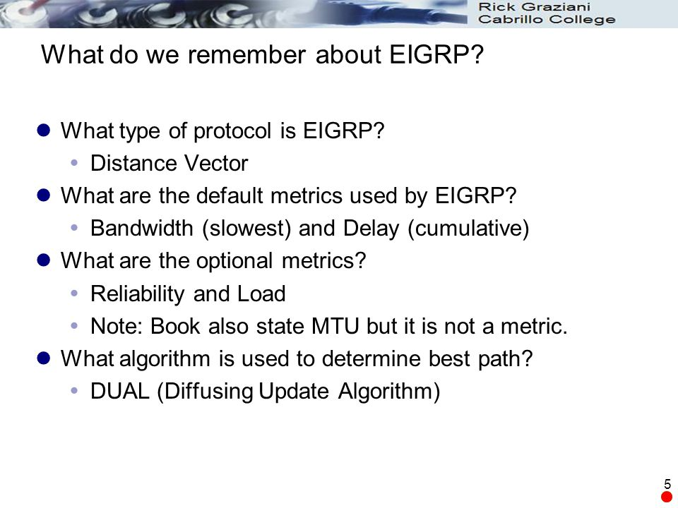 What do we remember about EIGRP