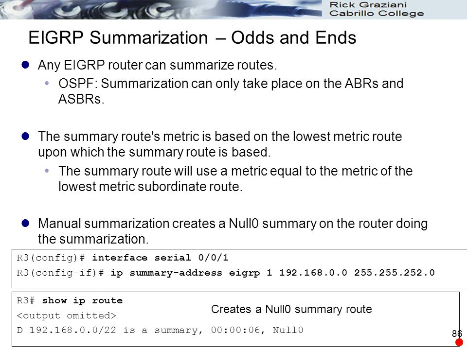 EIGRP Summarization – Odds and Ends