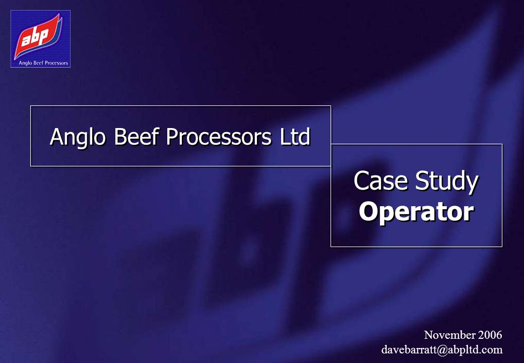 Anglo Beef Processors Ltd
