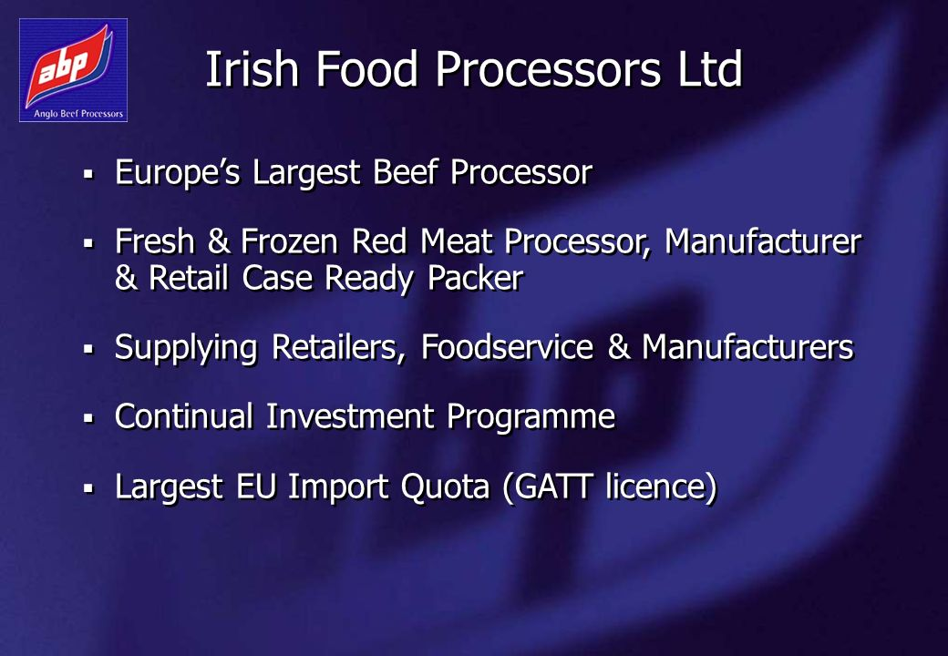 Irish Food Processors Ltd