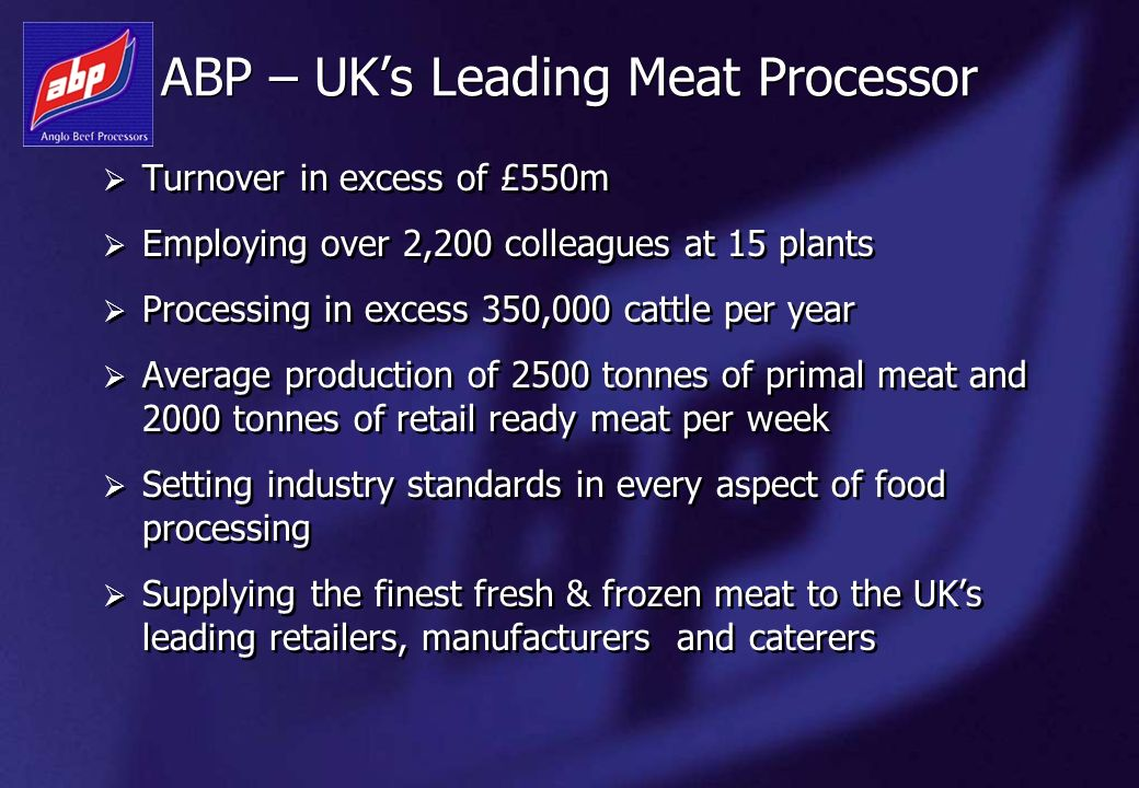 ABP – UK's Leading Meat Processor