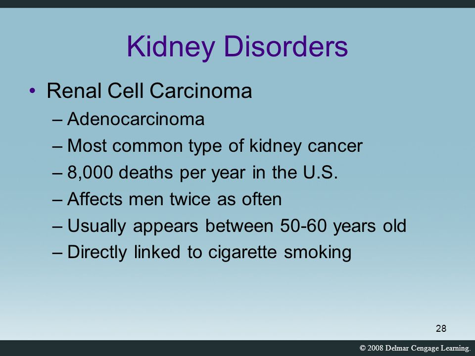 Kidney Disorders Renal Cell Carcinoma Adenocarcinoma